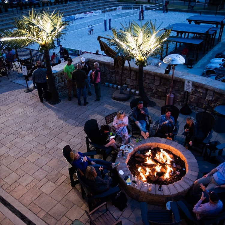 The patio at the Blind Squirrel