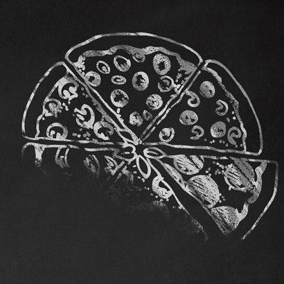 drawn chalk pizza