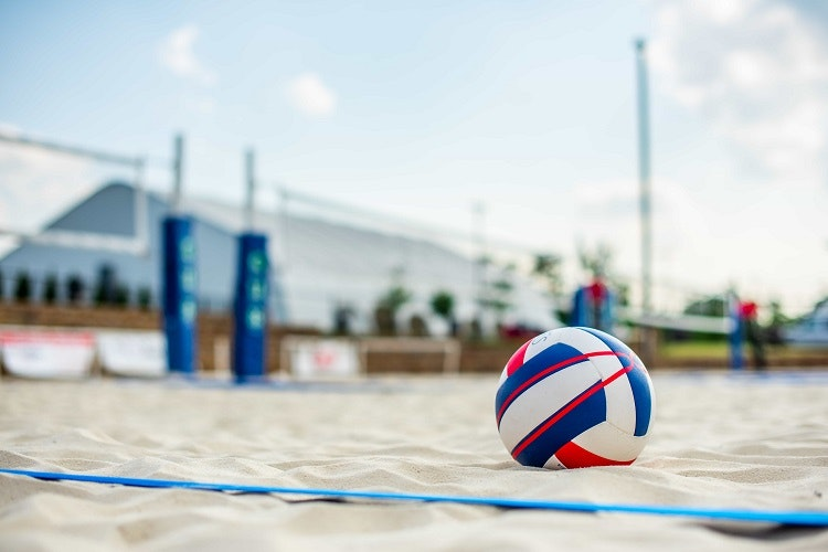 volleyball on sand court