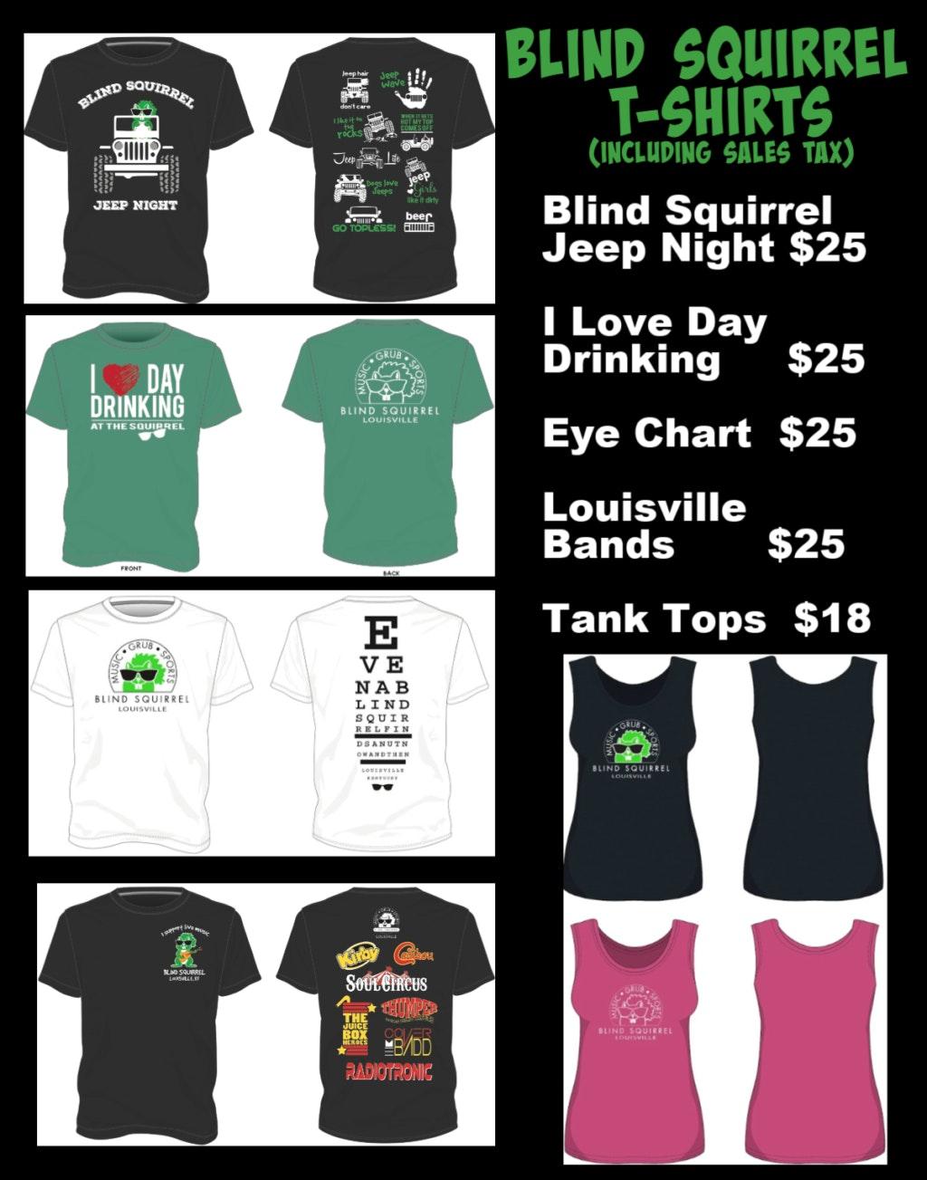 T-Shirts pricing list